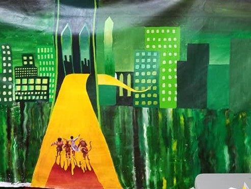 The Wiz backdrop cropped