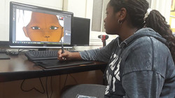 Student Coloring Face for graphic design