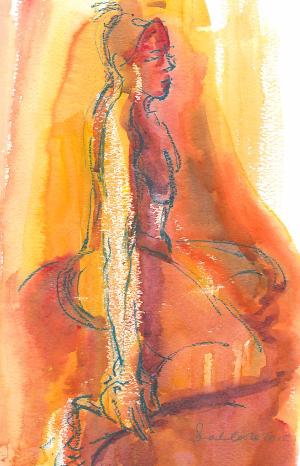 orange woman