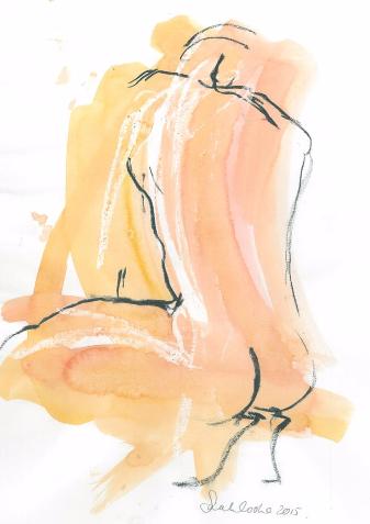 sketch of man squatting