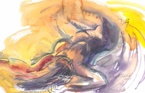Yellow purple lying down