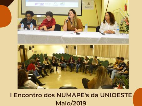 [Memórias do NUMAPE] I Encontro dos NUMAPE's da UNIOESTE - Maio/2019