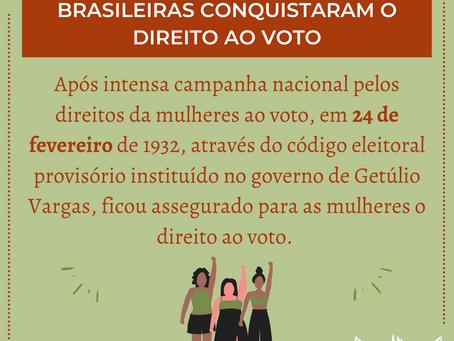 24 de Fevereiro - Dia da conquista do voto feminino