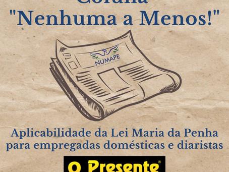 Coluna Nenhuma a Menos! Aplicabilidade da Lei Maria da Penha para empregadas domésticas e diaristas
