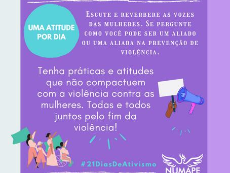 UMA ATITUDE POR DIA - Alie-se na prevenção da violência contra as mulheres!