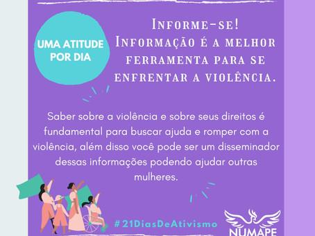 UMA ATITUDE POR DIA - Informação é a melhor ferramenta para se enfrentar a violência!