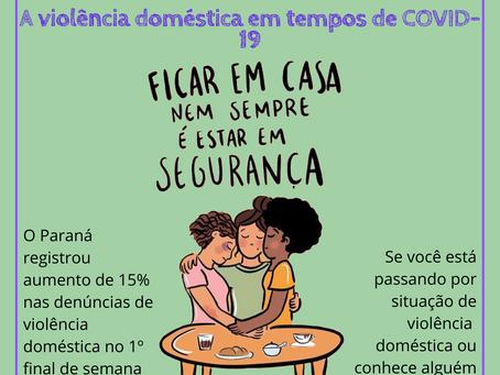 A Violência Doméstica e a COVID-19