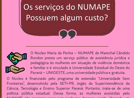 Os serviços do NUMAPE possuem algum custo?