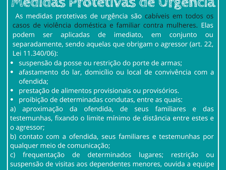 As Medidas Protetivas de Urgência