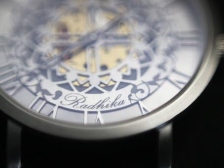 """""""Signed, to Radhika"""" from AMALGAM Watches"""