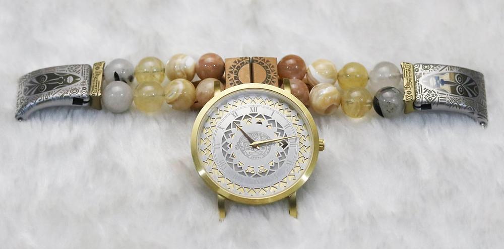 Watch and straps, gemstones, amalgam watches