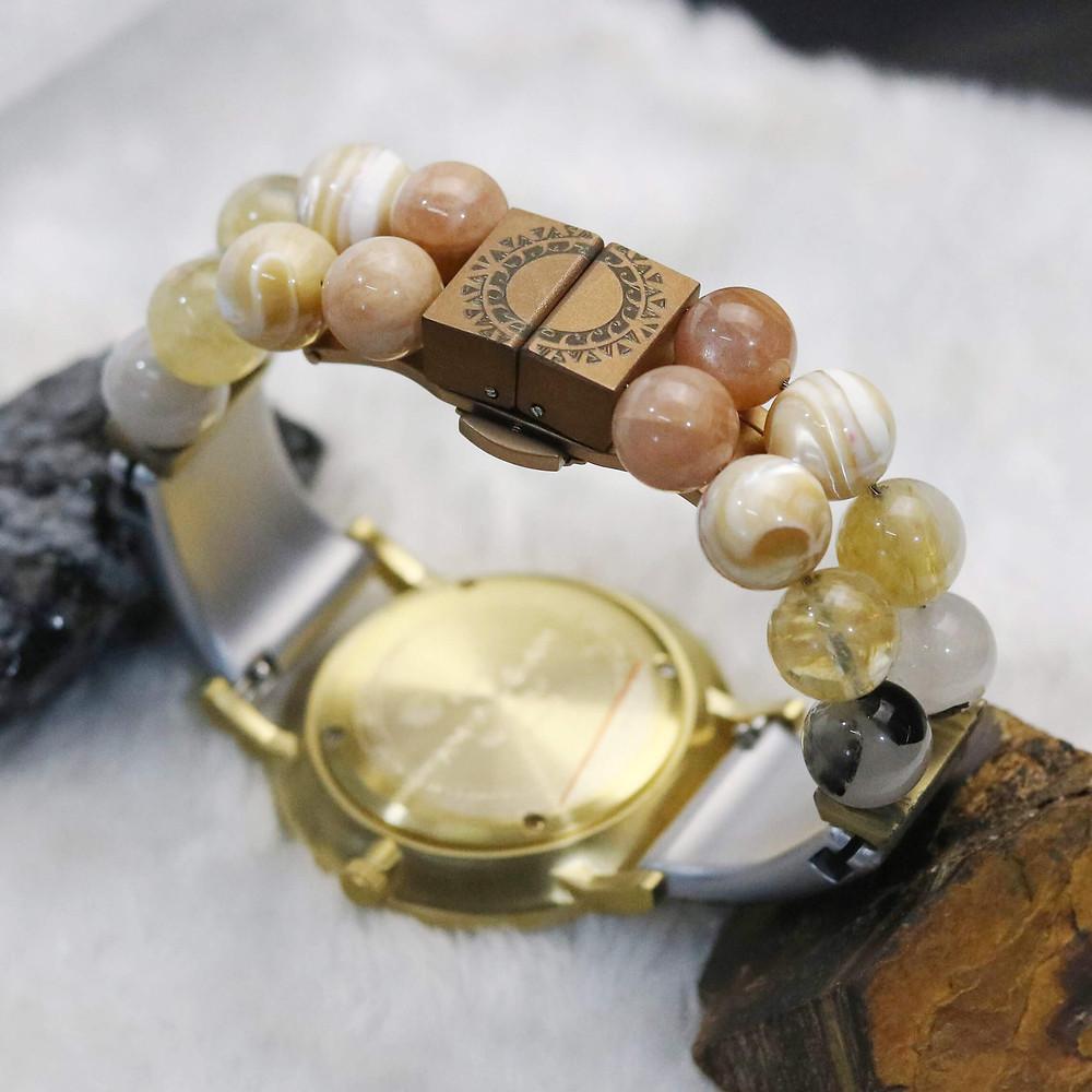 Luxury watch with gemstones
