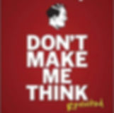 The 'don't make me think' book cover.