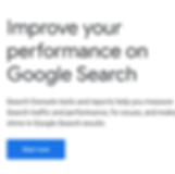 A screenshot of the Google Search Console website
