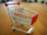 An image of a tiny shopping trolley.
