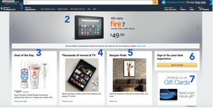The Amazon.co.uk homepage in late May 2019