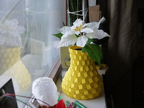 Curved Honeycomb Vase