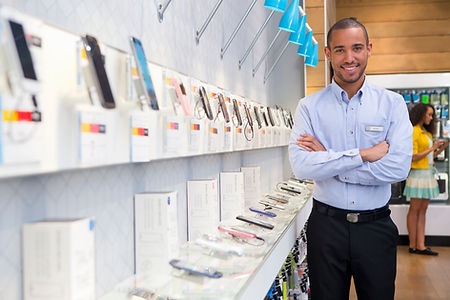 Man in Mobile Store