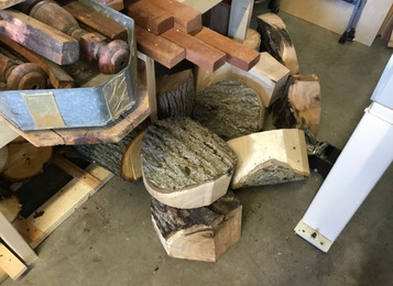 The journey through freshly harvested wood continues..