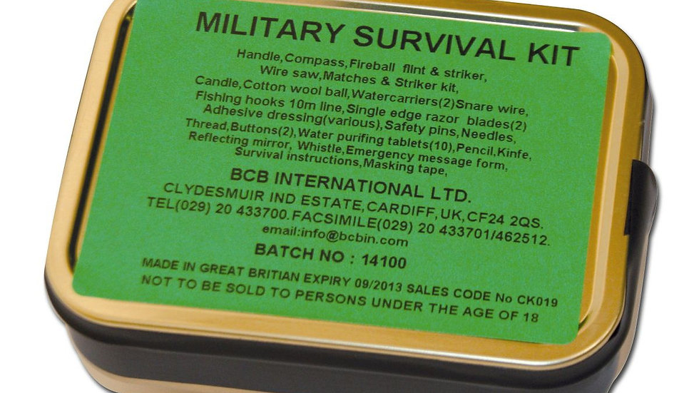 MILITARY Survival Kit BCB