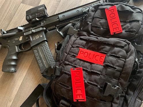 Plaque POLICE pour attache type MOLLE
