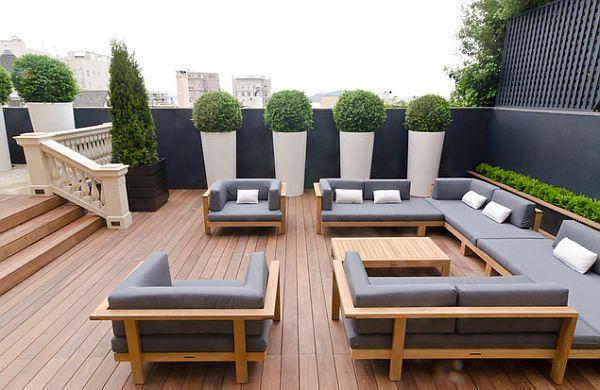 toit terrasse et salon