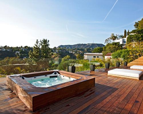terrasse bois et spa