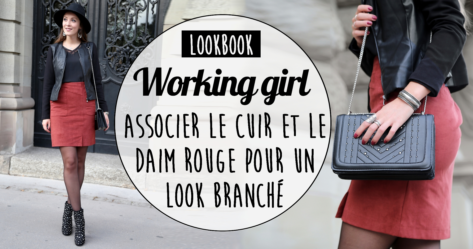 Jupe LookbookWorking Daim Girl Rouge En c3SALq4Rj5