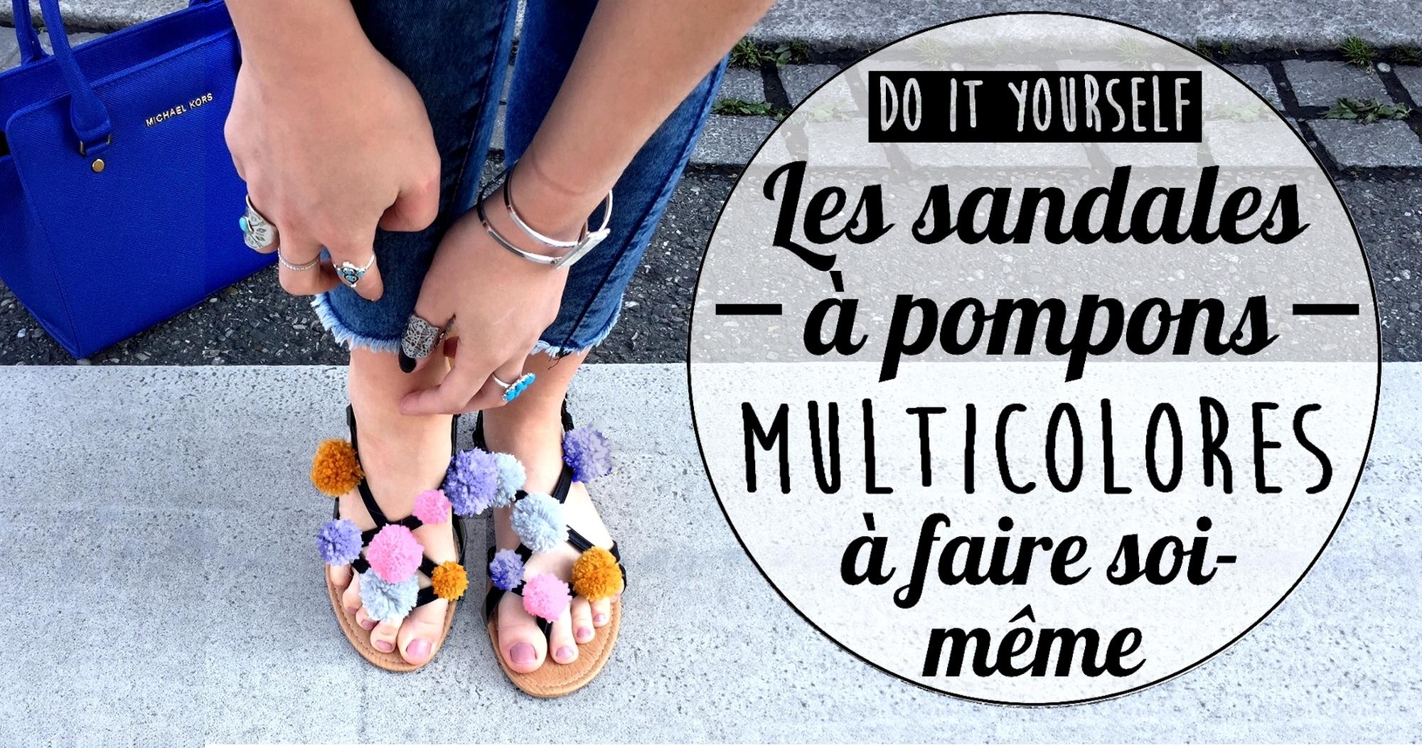 Pompons Soi À Même Faire Sandales DiyLes Multicolores 8kw0OPXn