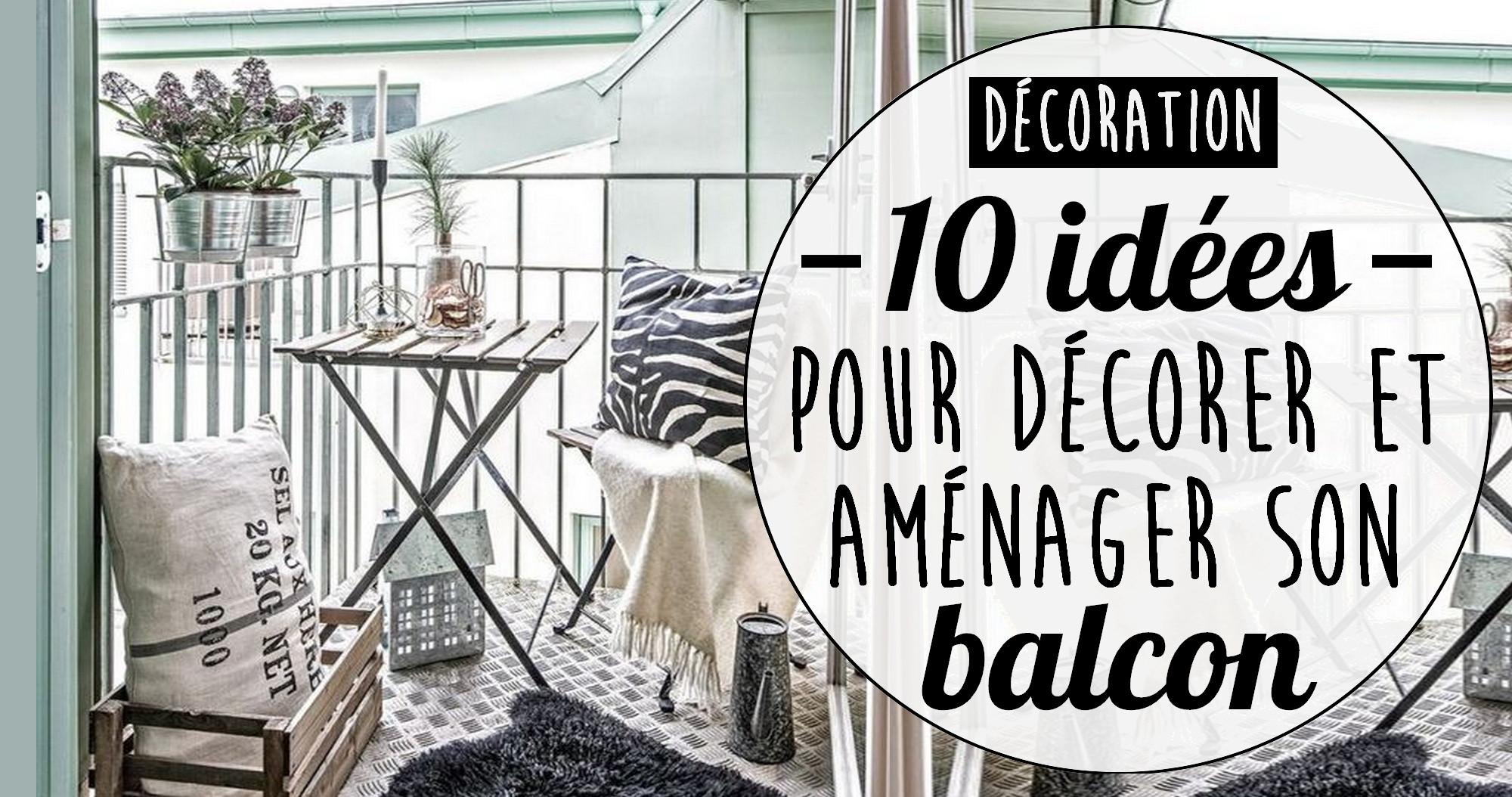 Aménager Son Balcon Avec Des Palettes 10 idées pour décorer et aménager un petit balcon