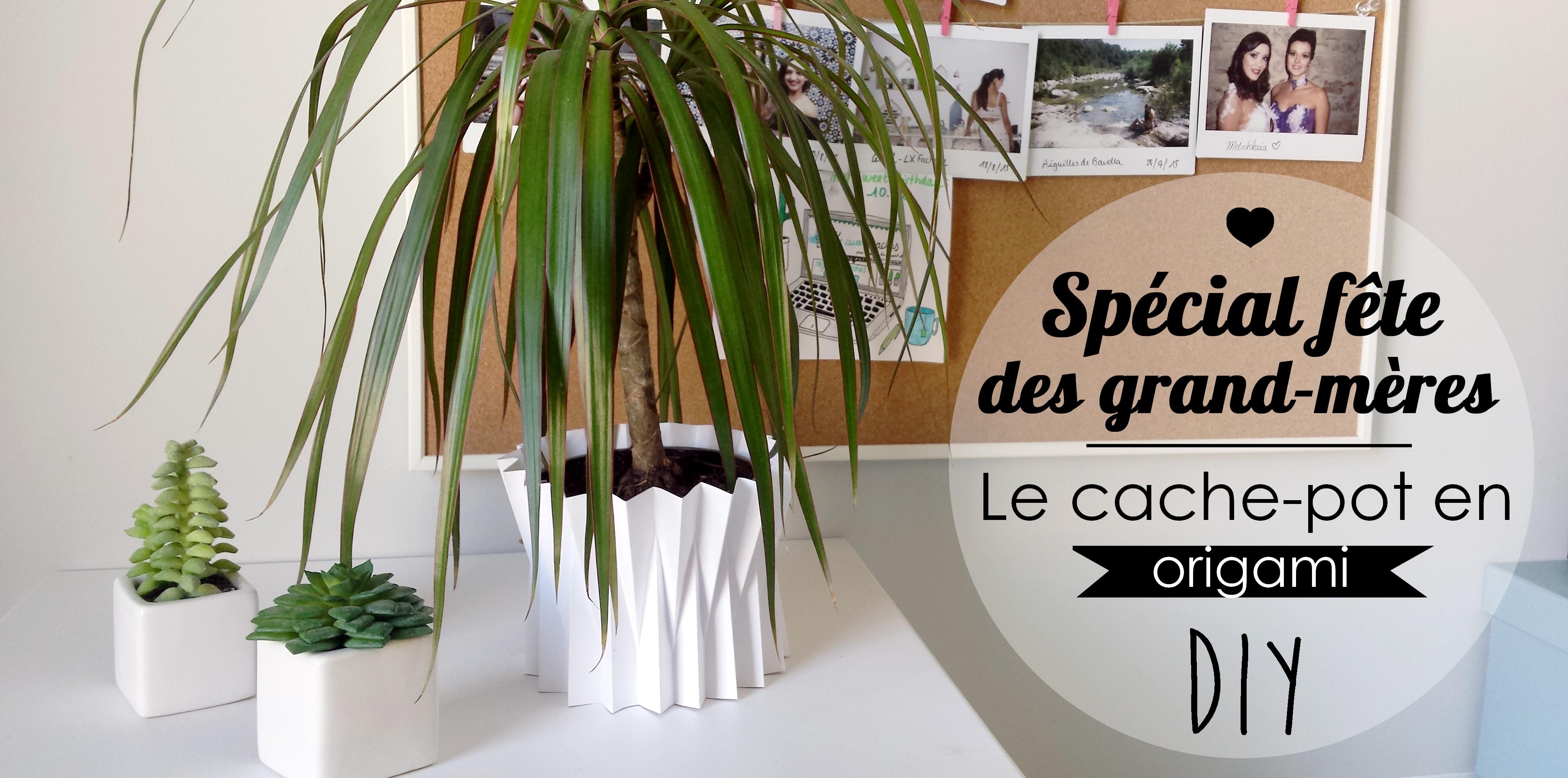 diy f te des grand m res le cache pot origami my sweet cactus le blog lifestyle doux et. Black Bedroom Furniture Sets. Home Design Ideas