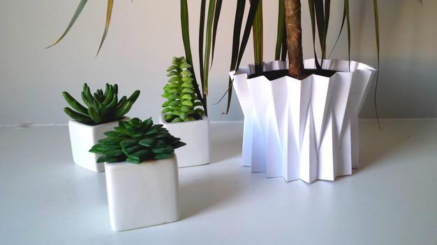 diy f te des grand m res le cache pot origami my sweet cactus le blog doux et piquant. Black Bedroom Furniture Sets. Home Design Ideas
