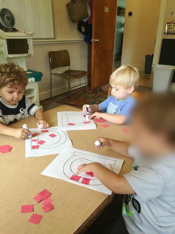 2's and 3's learning the letter Aa