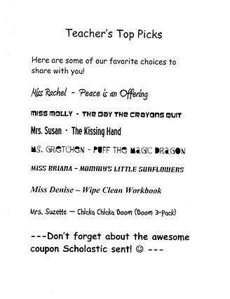 Scholastic Books, Teacher Picks