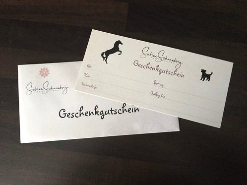 Gift voucher II for a large shooting package