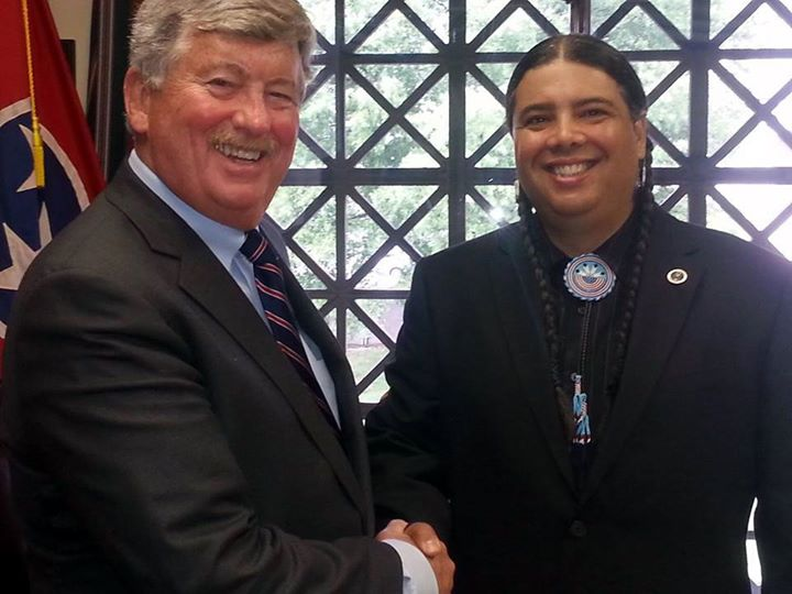 Senator Randy McNally and Chief Joseph RiverWind