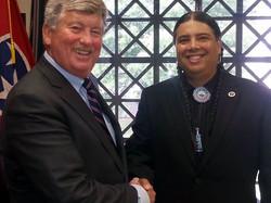 Senator Randy McNally and Chief Joseph RiverWind