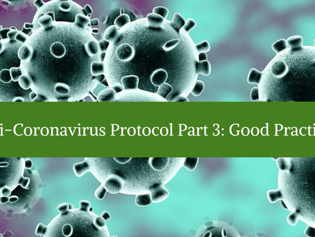 Anti-Coronavirus Protocol Part 3: Good Practices
