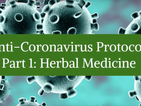 Anti-Coronavirus Protocol - Part 1: Herbal Medicine