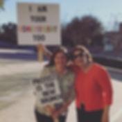 Robin Kosberg and Rachel Elkin protest p