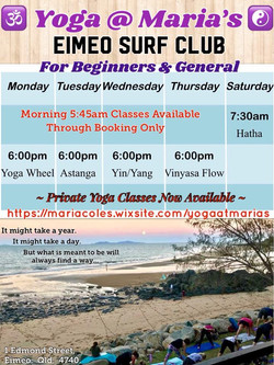 Yoga Timetable Feb 19 - 24