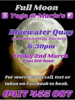 Full Moon Yoga @ Maria's - River St