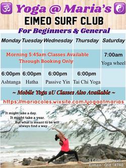 Yoga Classes For Everyone 5 - 17 Mar