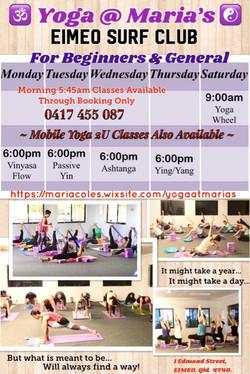 Timetable Aug 20 - Sep 1