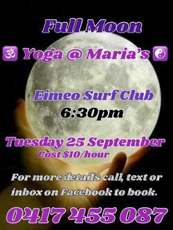 September Full Moon Yoga