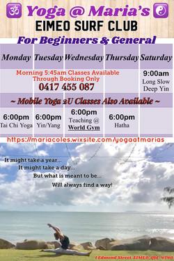 Eimeo Timetable Sep 3 - 15_o