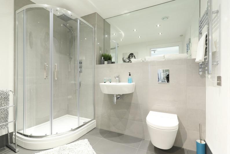 Clean shower room