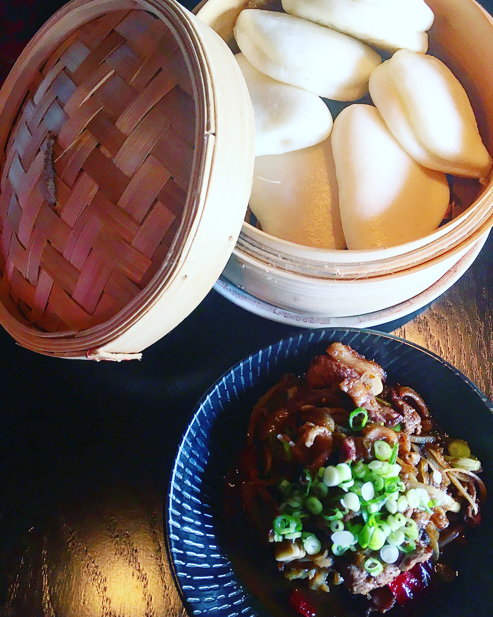 Spice Temple | Spicy lamb with guo bao