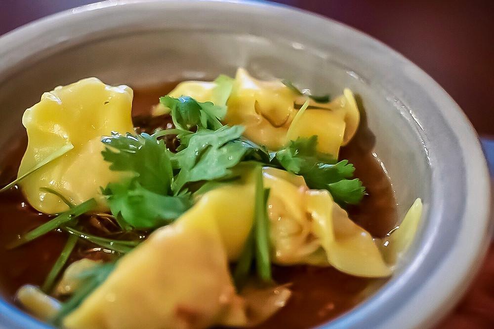 Lucy Liu | barramundi & scampi dumplings