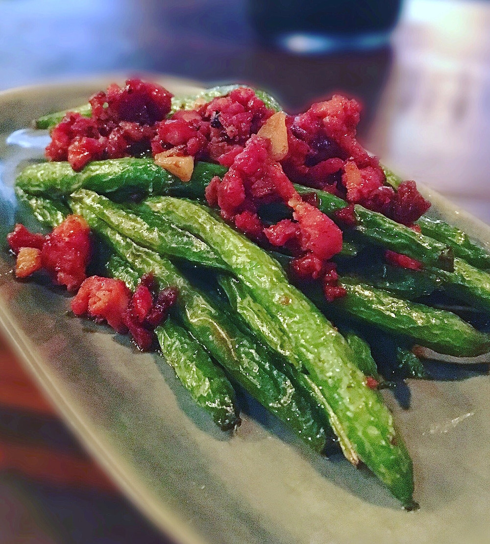 United Kitchen | Spicy green beans & chorizo
